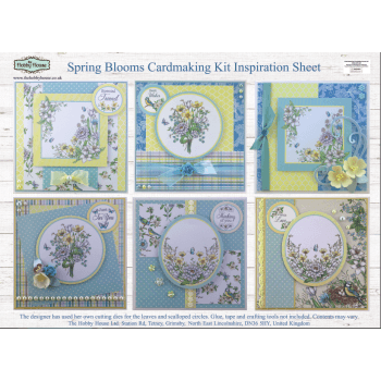 The Hobby House Spring Blooms Card Making Kit SLIGHT SECONDS (UK DELIVERY ONLY)