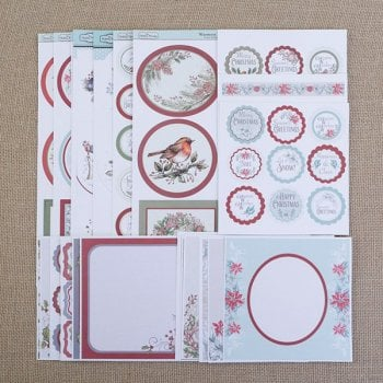 The Hobby House Festive Toppers, Panels and Mini Sentiments Lucky Dip