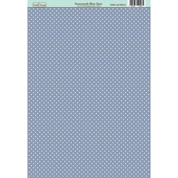The Hobby House Classic Stonewash Blue Spot Paper