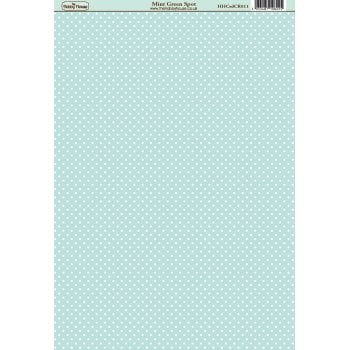 The Hobby House Classic Mint Green Spot Paper