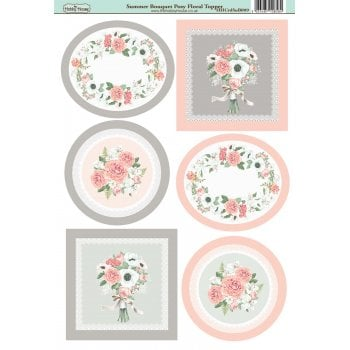 The Hobby House Summer Bouquet Posy Floral Topper