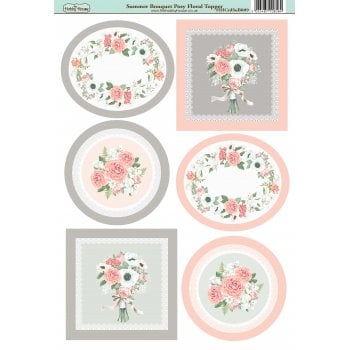 The Hobby House Summer Bouquet Posy Floral Topper Slight Seconds