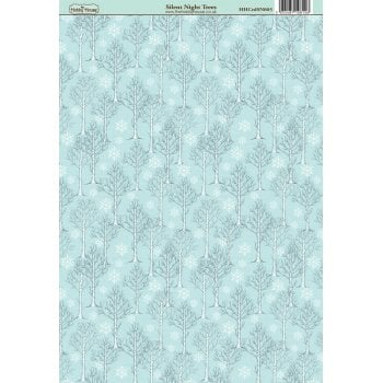 The Hobby House Silent Night Trees Patterned Paper