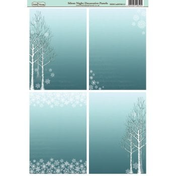 The Hobby House Silent Night A6 Decorative Panels