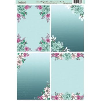The Hobby House Silent Night A6 Floral Decorative Panels