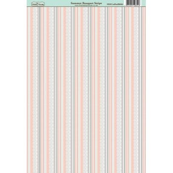 The Hobby House Summer Bouquet Stripe Paper