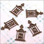 Metal Charms & Spacers - Birdcages 2