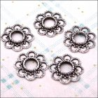 Metal Charms & Spacers - Large Blossom Spacers