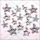 Metal Charms & Spacers - Just For You Stars