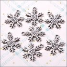 Metal Charms & Spacers - Snowflake 1