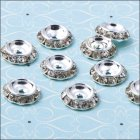 Diamante Round Spacer - 13mm