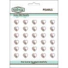 Self Adhesive Wedding Inspiration - 8mm Ivory Silk Pearl Hearts
