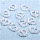 Pearl Ribbon Sliders - Heart