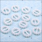 Pearl Ribbon Sliders - Round