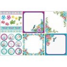 Tropical Blooms Decorative Panel Set