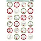 Christmas Holly Die-Cut Mini Circle Sentiments Slight Seconds