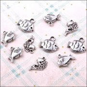 Metal Charms & Spacers - Fishy