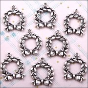 Metal Charms & Spacers - Christmas Wreaths