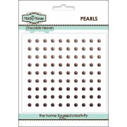 Self Adhesive Pearls - 3mm Chocolate Heaven