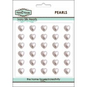 Self Adhesive Wedding Inspiration - 8mm Ivory Silk Pearl Hearts SLIGHT SECONDS