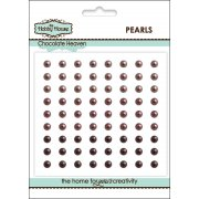 Self Adhesive Pearls - 4mm Chocolate Heaven SLIGHT SECONDS
