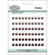 Self Adhesive Pearls - 5mm Chocolate Heaven SLIGHT SECONDS