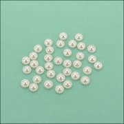Flat Backed Pearl Medallion - 8mm