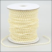Pearl Strings - Round Pearl 4mm - 3 metres