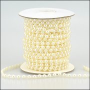 Pearl Strings - Round Pearl 6mm - 3 metres