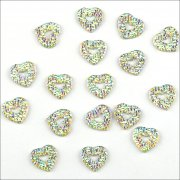Rhinestone Sparklers Fanciful Hearts 12mm - Aurora