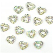 Rhinestone Sparklers Fanciful Hearts 15mm - Aurora
