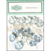 Mulberry Paper Cherry Blossoms - Ivory Blue