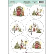 Daisy Mae Draws Card Toppers - Christmas Village SLIGHT SECONDS