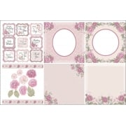 English Rose Decorative Panels and Die-cuts