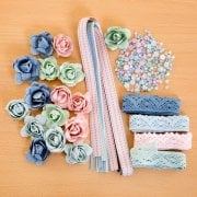 Linen Rose Embellishment Collection