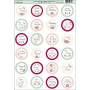 Peony Bouquet Die-Cut Mini Circle Sentiments