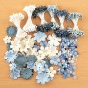 Ivory Blue Embellishment Selection