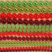 Christmas Coloured Pearl Strings Collection