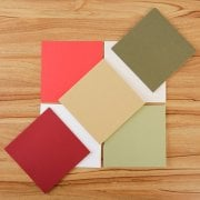 Festive Pearlescent Squares 15cm set of 40 (UK delivery only)