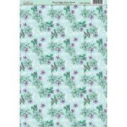 Silent Night Mint Floral Patterned Paper