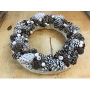 Winter Berries, Pine Cones and Polystyrene Wreath Set SLIGHT SECONDS